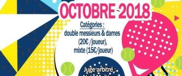 Tournoi de Padel – Octobre 2018